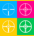 sight sign four styles of icon on vector image vector image