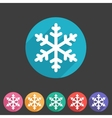 Snowflake flat icon vector image vector image