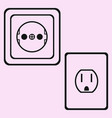socket outlet vector image