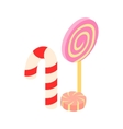 Sweets isometric 3d icon vector image