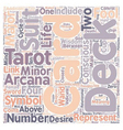 Tarot Deck Of Cards text background wordcloud vector image