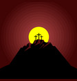 the night after the crucifixion of jesus vector image