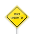 Under Construction Road Sign Background vector image vector image