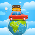 Vacation travelling concept travel with a r vector image