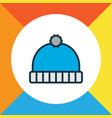winter hat icon colored line symbol premium vector image