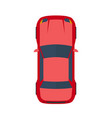 modern flat red car vector image