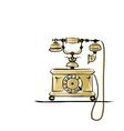 Retro telephone sketch for your design vector image