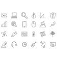 Business communication black icons set vector image