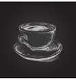 Hand Drawn Sketch Coffee Cup vector image