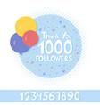thank you social network followers concept vector image