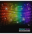 Abstract mosaic rainbow glowing squares vector image vector image