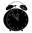 Alarm clock black silhouette vector image vector image