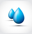 blue water droplets vector image vector image
