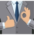 Business man in gray vector image