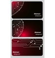 Busitess card templates with circuit board vector | Price: 1 Credit (USD $1)