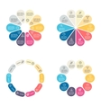Circular infographics with 10 sections vector image