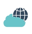 cloud technology global connection data vector image