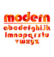 colorful letters modern logotype typography for vector image