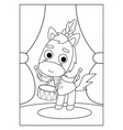 coloring book horse vector image vector image