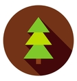 Coniferous Christmas Tree Circle Icon vector image vector image