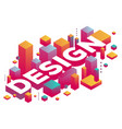 creative of three dimensional word design with vector image vector image