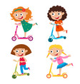cute concept of girls on vector image