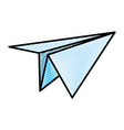 doodle paper plane origami object design vector image vector image