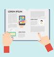 element newspaper in flat design vector image vector image