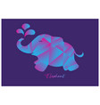 elephant logo design polygon vector image