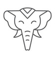 elephant thin line icon zoo and wildlife african vector image