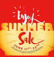 enjoy summer sale typography on carved pineapple vector image vector image