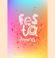 festa junina banner with confetti and text vector image vector image