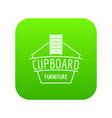 furniture cupboard icon green vector image vector image