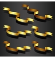Gold ribbon set vector image vector image