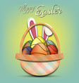 happy easter basketball balls in form eggs vector image vector image