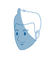head guy cartoon young people profile vector image vector image