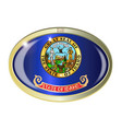 idaho state flag oval button vector image vector image