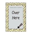Invitation postcard Direction Arrows from vector image vector image