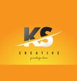 ks k s letter modern logo design with yellow vector image vector image