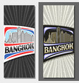 layouts for bangkok vector image
