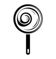 lollipop icon simple black style vector image vector image