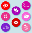 Love web buttons-flat vector image vector image