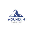 modern mountain logo template for business vector image vector image
