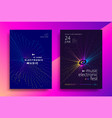 music electronic fest poster design sound flyer vector image vector image