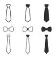 Necktie icon set vector image