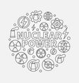 nuclear power round vector image vector image