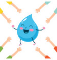 of cartoon raindrop vector image vector image