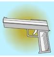 Pistol pop art vector image vector image