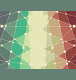 polygonal colorful backdrop vector image