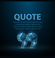 quote abstract modern blank speech bubble vector image